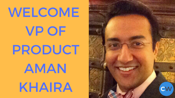 Welcome VP of ProductAman Khaira (1)