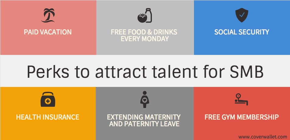 Perks to attract talent for SMB