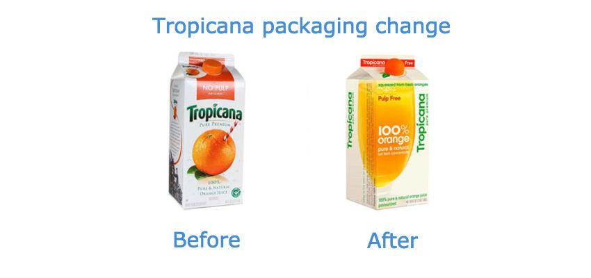Tropicana packaging change